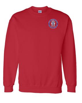 """173rd Airborne Brigade """"Crest""""  Embroidered Sweatshirt-Proud"""