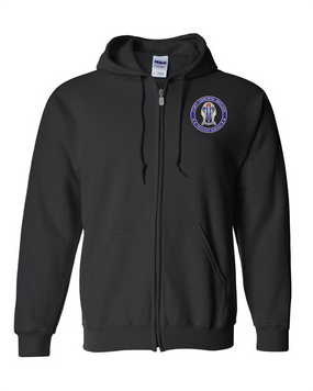 """173rd Airborne Brigade """"Crest""""  Embroidered Hooded Sweatshirt with Zipper  -Proud"""