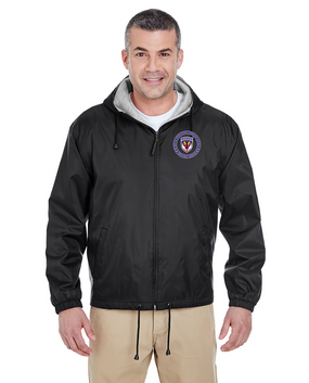 SOCCENT Embroidered Fleece-Lined Hooded Jacket-Proud