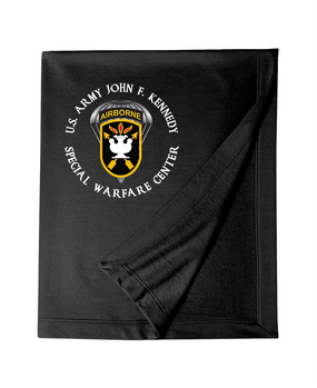 JFK Special Warfare Center Embroidered Dryblend Stadium Blanket (C)