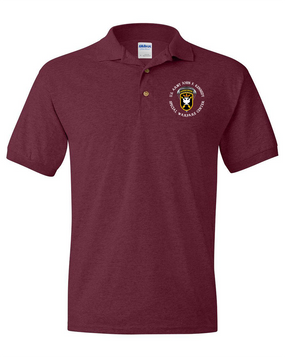 JFK Special Warfare Center Embroidered Cotton Polo Shirt -(C)
