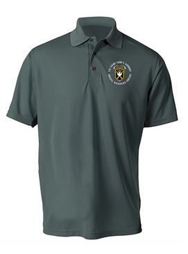 JFK Special Warfare Center  Embroidered Moisture Wick Polo Shirt -(C)