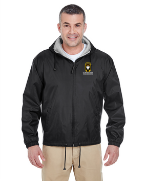 JFK Special Warfare Center Embroidered Fleece-Lined Hooded Jacket-