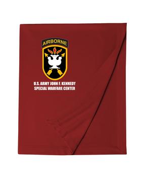 JFK Special Warfare Center Embroidered Dryblend Stadium Blanket