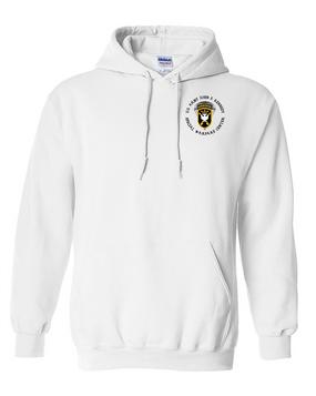 JFK Special Warfare Center  Embroidered Hooded Sweatshirt-(C)