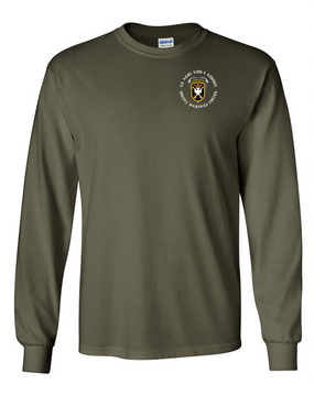 JFK Special Warfare Center Long-Sleeve Cotton T-Shirt-(C)