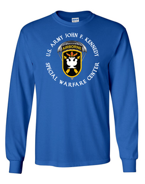 JFK Special Warfare Center Long-Sleeve Cotton T-Shirt-(C)-FF