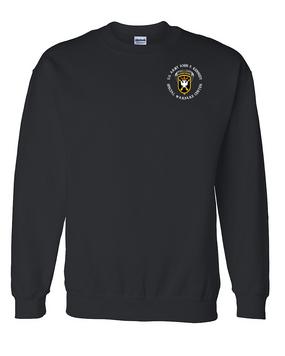 JFK Special Warfare Center Embroidered Sweatshirt -(C)