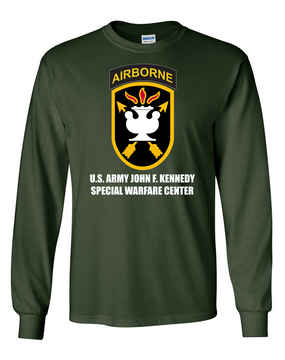 JFK Special Warfare Center Long-Sleeve Cotton T-Shirt-FF