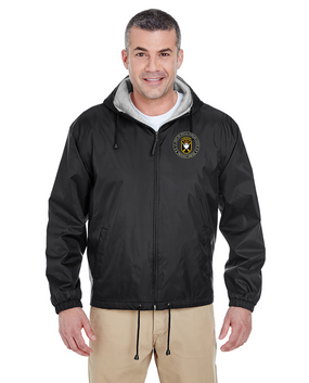 JFK Special Warfare Center Embroidered Fleece-Lined Hooded Jacket-Proud