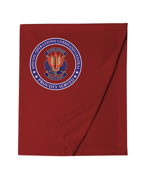 "SOCCENT ""Crest"" Embroidered Dryblend Stadium Blanket-Proud"
