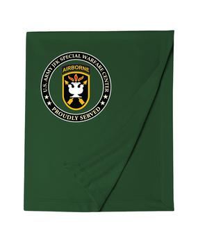 JFK Special Warfare Center Embroidered Dryblend Stadium Blanket-Proud