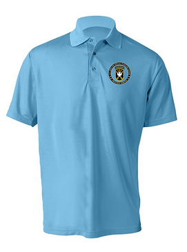 JFK Special Warfare Center  Embroidered Moisture Wick Polo Shirt-Proud