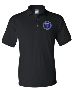 USAEUR Embroidered Cotton Polo Shirt-Proud