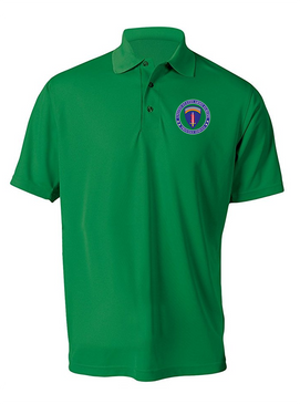 USAEUR Embroidered Moisture Wick Polo Shirt -Proud