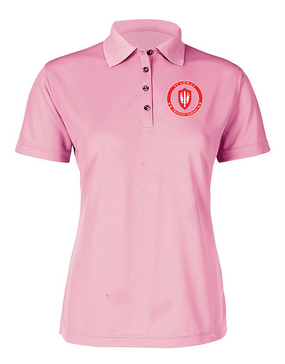 SCARWAF Ladies Embroidered Moisture Wick Polo Shirt -Proud