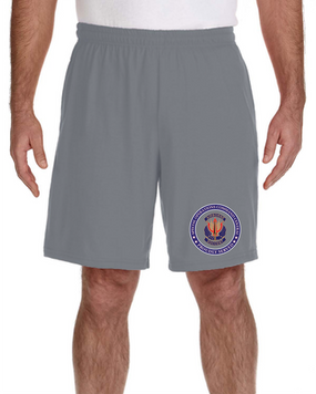 "SOCCENT ""Crest""  Embroidered Gym Shorts-Proud"