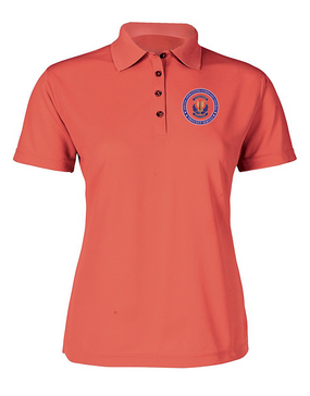 "SOCCENT ""Crest"" Ladies Embroidered Moisture Wick Polo Shirt -Proud"