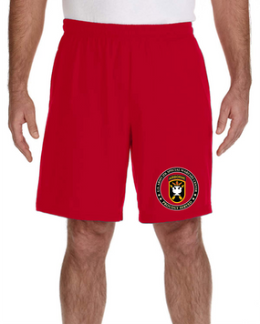 JFK Special Warfare Center Embroidered Gym Shorts -Proud
