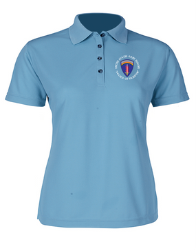 USAEUR Ladies Embroidered Moisture Wick Polo Shirt  (C)