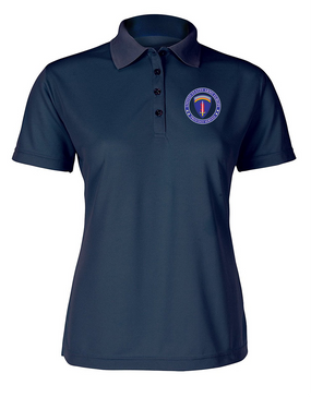 USAEUR Ladies Embroidered Moisture Wick Polo Shirt  -Proud