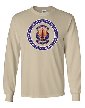 "SOCCENT ""Crest""  Long-Sleeve Cotton T-Shirt -Proud (FF)"