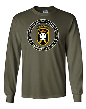 JFK Special Warfare Center Long-Sleeve Cotton T-Shirt-Proud (FF)
