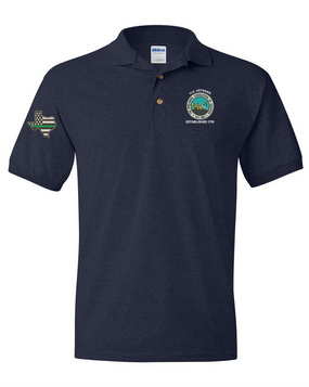 The Pipeliners Association of Houston Embroidered Cotton Polo Shirt-Proud
