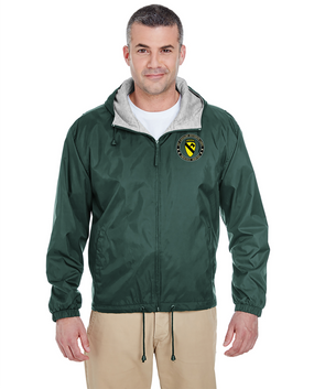 1st Cavalry Division (Airborne) Embroidered Fleece-Lined Hooded Jacket -Proud