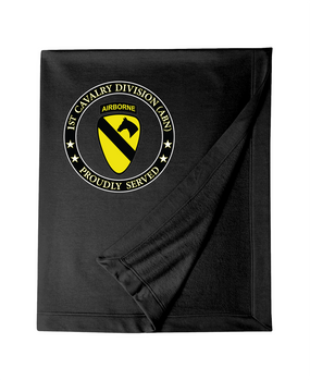 1st Cavalry Division (Airborne) Embroidered Dryblend Stadium Blanket-Proud