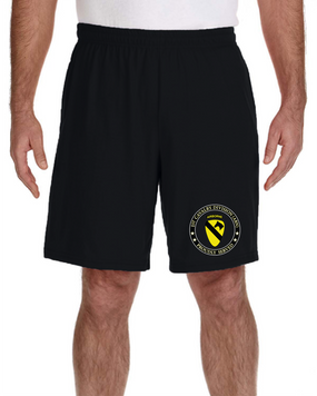 1st Cavalry Division (Airborne) Embroidered Gym Shorts-Proud
