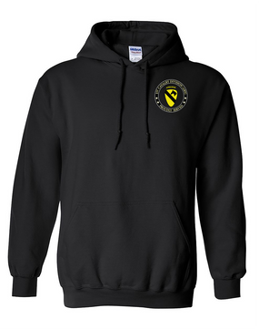 1st Cavalry Division (Airborne) Embroidered Hooded Sweatshirt -Proud