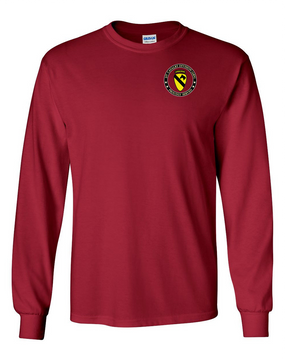 1st Cavalry Division (Airborne) Long-Sleeve Cotton T-Shirt -Proud