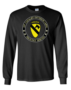 1st Cavalry Division (Airborne) Long-Sleeve Cotton T-Shirt -Proud (FF)