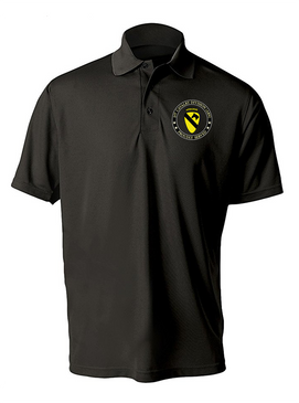 1st Cavalry Division (Airborne) Embroidered Moisture Wick Polo-Proud
