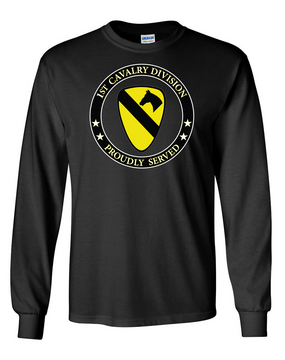 1st Cavalry Division Long-Sleeve Cotton T-Shirt -Proud (FF)