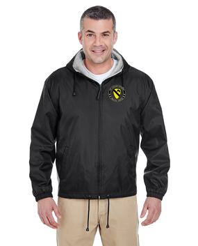 1st Cavalry Division Embroidered Fleece-Lined Hooded Jacket -Proud
