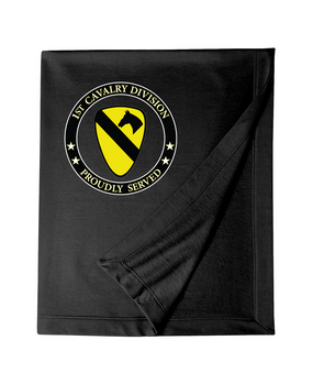 1st Cavalry Division Embroidered Dry-blend Stadium Blanket-Proud