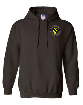 1st Cavalry Division Embroidered Hooded Sweatshirt -Proud