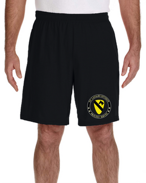 1st Cavalry Division Embroidered Gym Shorts-Proud
