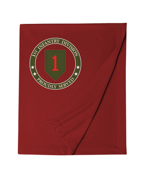 1st Infantry Division Embroidered Dry-blend Stadium Blanket-Proud