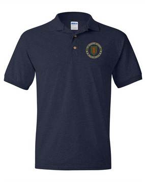 1st Infantry Division Embroidered Cotton Polo Shirt -Proud