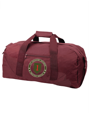1st Infantry Division  Embroidered Duffel Bag-Proud