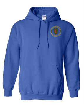 1st Infantry Division Embroidered Hooded Sweatshirt -Proud