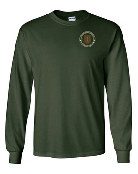 1st Infantry Division Long-Sleeve Cotton T-Shirt -Proud