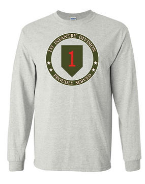 1st Infantry Division Long-Sleeve Cotton T-Shirt -Proud (FF)