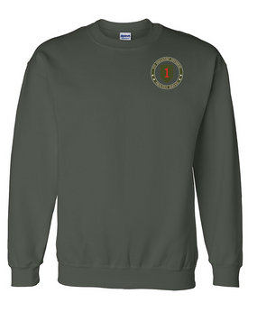 1st Infantry Division Embroidered Sweatshirt  -Proud