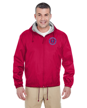 1st Marine Division Embroidered Fleece-Lined Hooded Jacket -Proud