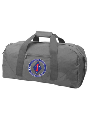 1st Marine Division  Embroidered Duffel Bag-Proud