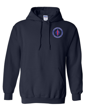 1st Marine Division Embroidered Hooded Sweatshirt -Proud